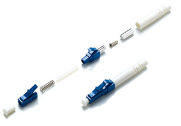 LC/UPC Fiber Connector Single Mode Simplex For 0.9 3.0 mm Fiber Patch Cables