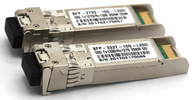 20KM 10GB Single Mode Simplex LC Connector SFP Fiber Optic Transceiver With DDM