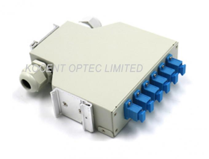 KCO-DINRAIL-SC-SM-06 Fiber Optic Terminal Box Single Mode SC 6 Ports FTTH GPON