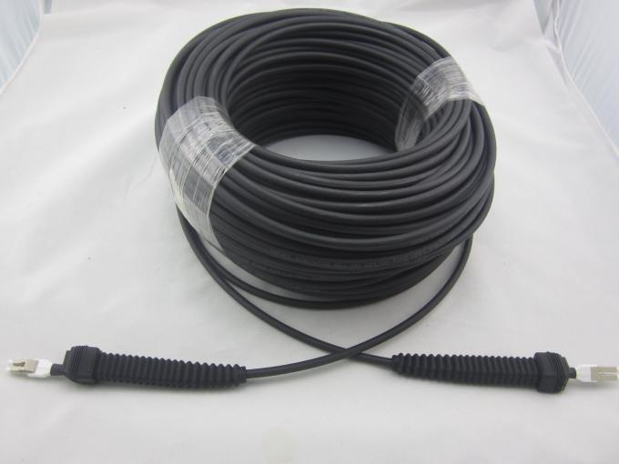 Armored Fiber Optic Patch Cord 2 Cores SM MM OM3 OM4 CPRI DLC Patch Cable