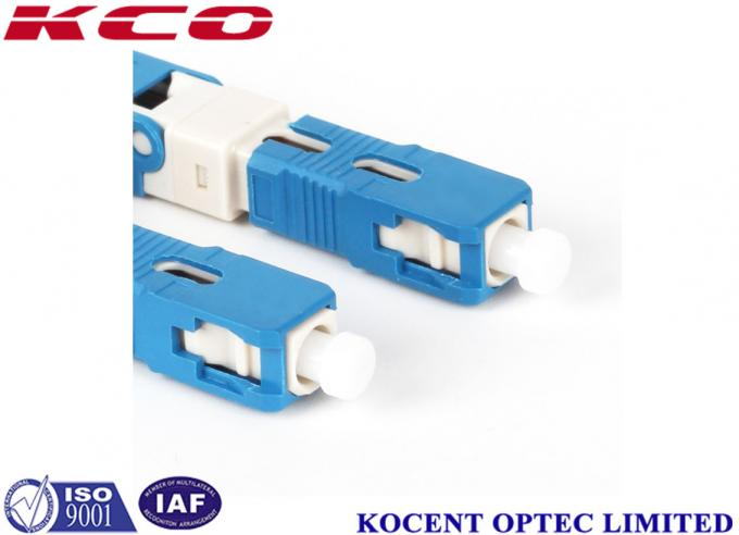 blue SC /UPC Fiber Optic Fast Connector 2.0mm 3.0mm FTTX Solution Product
