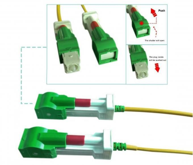 Automatic Shutter Connector Fiber Optic Patch Cables
