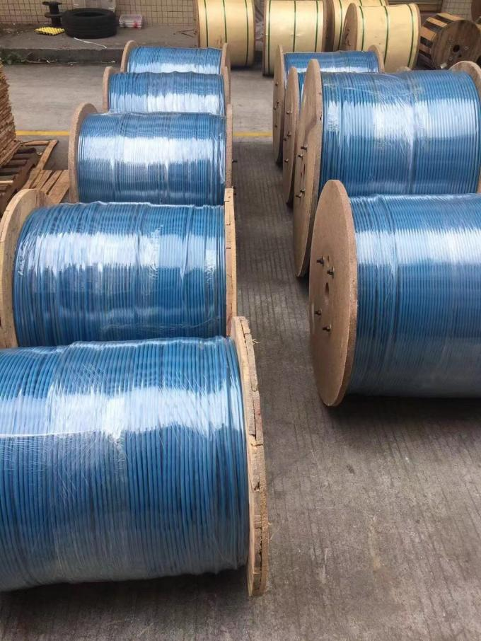 MGTSV Mining Optical Fiber Cable 2km ~ 3km Each Roll Outdoor With Blue Color