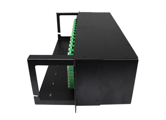 Mini Tube Type 3U Fiber Optic Splitter Patch Panel Rack Mountable Chassis Standard 19''