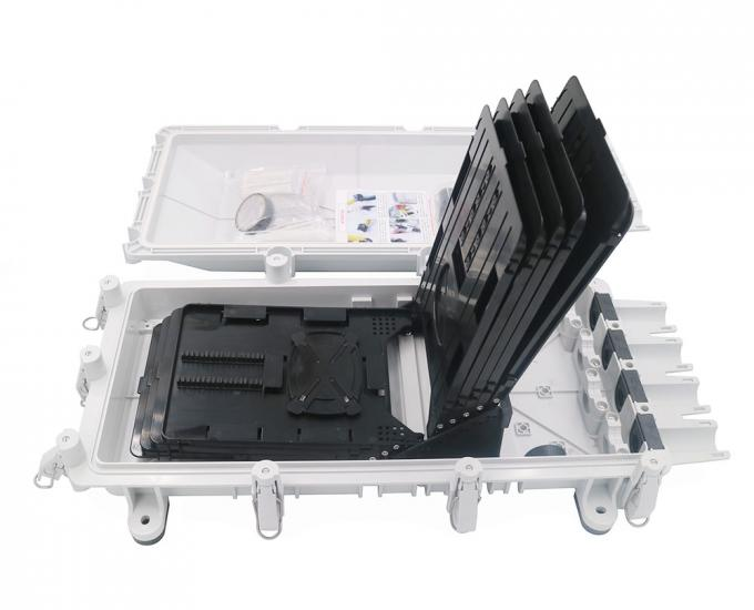 IP67 Waterproof Fiber Optic Splice Closure Cajas Nap Box 256 Core RoHS Approval