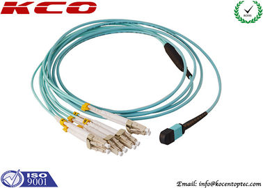 China Single Mode MPO MTP Patch Cord 8 Cores LC 10G OM3 Patch Cord supplier