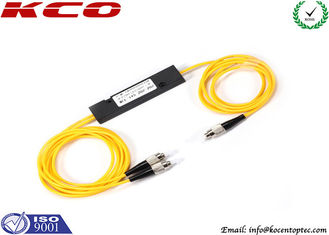 China Low Loss Fiber Optic Splitter 1X2 FTTH with FC UPC Corning Fiber Connectors supplier