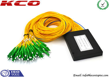 China LC APC Fiber Optic Coupler Splitter 1x64 ABS Module, GPON Optical Splitter supplier
