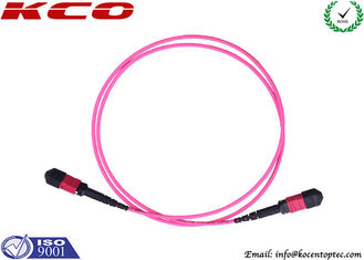 China MPO Breakout Cable Fan Out Kits Fiber Optics LC FC SC Type LSZH pink Cover supplier