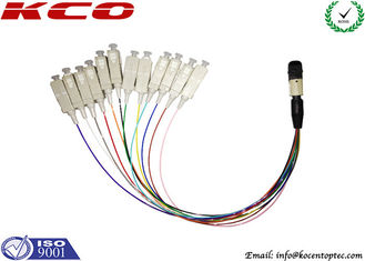 China Fiber Optic Breakout Cable / QSFP Breakout Cable MTP MPO to 12 Fan Out SC supplier