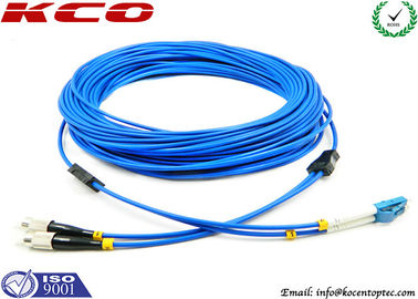 China Multimode LC to FC Fiber Optic Patch Cord Duplex Armored Low Insertion Loss supplier
