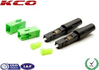 China Fiber Optic Field Assembly Connector SC / APC High Efficiency For  3.0 MM Cables supplier