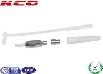 China Polished DIN Fiber Optic Connectors High Return Loss For Testing Equipment supplier