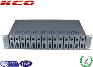 China 14 Slots Optional Multimode Media Converter 19 Inch 2U Chassis Rack Type supplier