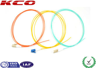 China Simplex LC LC OM3 Patch Cord 50 / 125 10G Fiber Optic Pigtails PVC Cover supplier