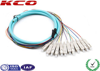 China OM3 Fiber Optic Conector Pigtail Patch Cord Fanout 50/125 3m SC Type supplier