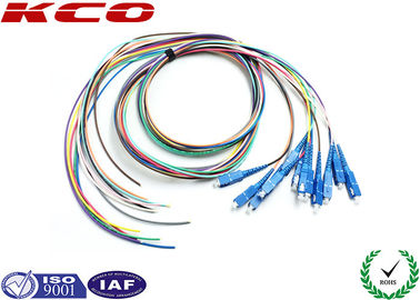 China 12 colors PVC Fiber Optic Pigtail Single Mode FTTH Fiber to The Home SC Type supplier