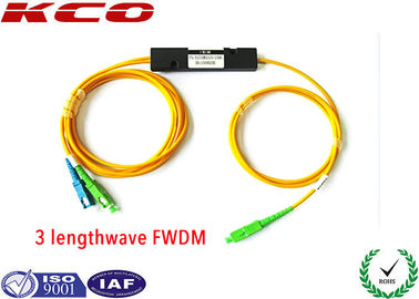 China Filter Wavelength Division Multiplexer FTTH/FTTx 1310/1550/1490nm EPON FWDM Filter WDM supplier