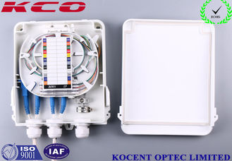 China KCO-FDB-8C Outdoor Waterproof 8 Cores Fiber Optic Splitter Box ABS + PC FTTH FTTB supplier
