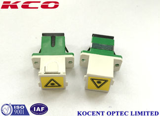 China 0.2Db UV Protection Shuttered Adapter Fiber Optic Green Color SC / APC Shutter Cap supplier