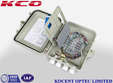 China 12 Cores 4 Ports Fiber Optic Terminal Box Full Loaded Pole Mount KCO - FXX -12 supplier