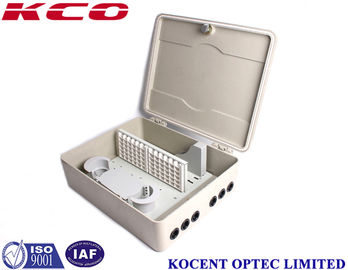 China 72 Ports SMC Fiber Optic Terminal Box , Outdoor Wall Pole Mount Ftth Distribution Box Cross Cabinet supplier