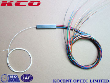 China Mini Tube Blockless Type Fiber Optic PLC Splitter 1x16 2x16 0.9mm Pigtail diameter supplier