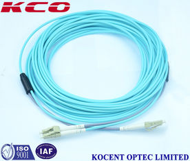 China OM3 LC LC Duplex Fiber Optic Patch Cord / Armoured Fibre Optic Cable supplier