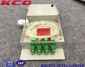 China Indoor Fiber Optic Terminal OTB Wall Mountable Face Plate 4 SC/UPC Adapter Ports supplier