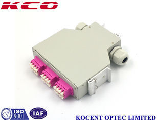China FTTH GPON Fiber Optic Din Rail Terminal Splice Box OM4 LC 24 Ports KCO-DINRAIL-LC-OM4-24 supplier