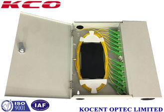 China KCO-WTB-24A Wall mountable optical termination box 24 ports With SC/APC Pigtail supplier