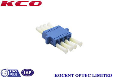 China Blue Plastic Fiber Optic Cable Adapter LC / UPC Without Dust Cap supplier