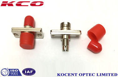 China DIN - FC Fiber Optic Coupler Hybrid Optical Fiber Adapter 0.2dB Insertion Loss supplier