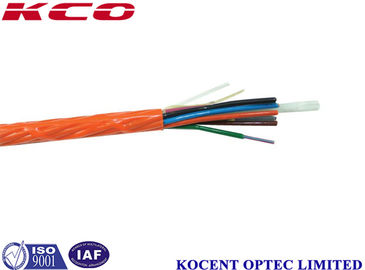 China 12 Core Optical Fiber Cable Single Mode PE Material For Indoor / Outdoor supplier