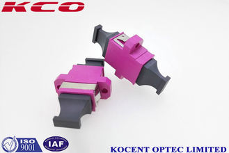 China MPO MTP Optical Fiber Adapter Violet Color Female - Female With Plastic Material supplier