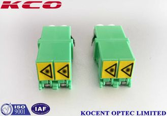 China Low Insertion Loss Fiber Optic Adapter Green LC/APC Shutter Duplex PC Material supplier