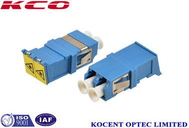 China Auto Shutter Fiber Optic Cable Adapter 9/125 Single Mode LC/UPC Duplex Plastic Material supplier