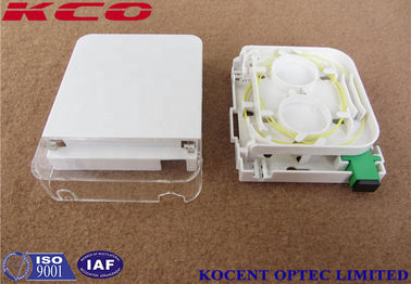 China Indoor Wall Mount Fiber Termination Box Socket 1 Port SC Simplex LC Duplex Face Plate supplier