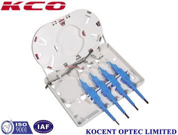 China Indoor Optical Fiber Termination Box Wallmount Socket 4 Core FTTH FTTB SC FC LC ST E2000 supplier