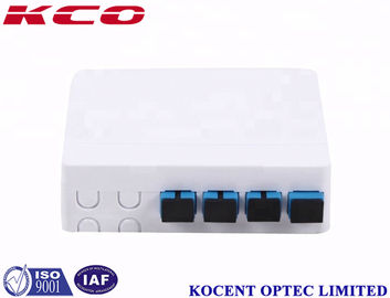 China Wall Mount Socket Fiber Optic Terminal Box 4 Core ABS/PC Material 0.15dB Insertion Loss supplier