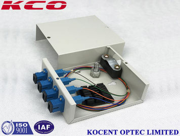 China Indoor Wallmount Fiber Optic Terminal Box 4 Port Fullload Mini Size With SC/UPC Adapter supplier
