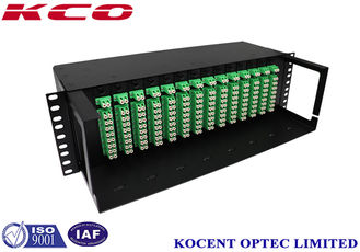 China Mini Tube Type 3U Fiber Optic Splitter Patch Panel Rack Mountable Chassis Standard 19'' supplier