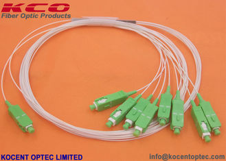 China Mini Fiber Optic Plc Splitter 1x8 Steelless Tube Type Material Low Insertion Loss supplier