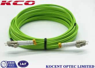 China PVC / LSZH Cover Fiber Optic Patch Cord 5G FTTA LC Duplex OM5 MM 50/125 3D supplier