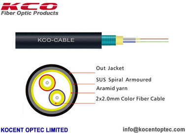 China Armored Optical Fibre Cable FTTA 7.0mm G657A Field Army Military TPU LSZH Material supplier