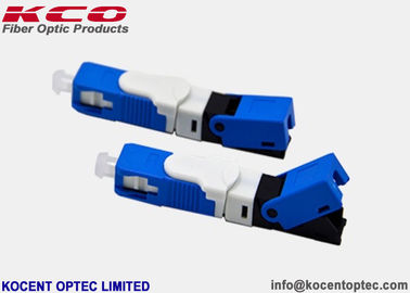 China UPC Blue Fiber Optic Fast Connector OFC Single Mode SM ESC250D 0.2dB Insertion Loss supplier
