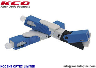 China Single Mode Fiber Optic Fast Connector FTTH FTTB FTTO ESC250D 0.9mm Cable supplier