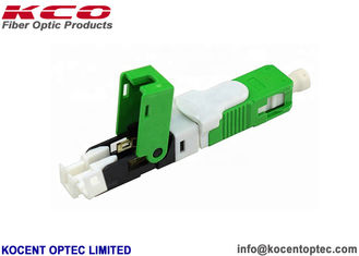 China ESC250D APC Green Quick Connect Fiber Optic Connectors IL 0.2dB RL 55dB Interferometer Pass supplier