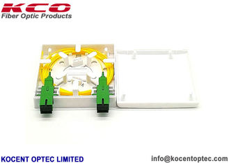 China 1/ 2 Port Fiber Optic Termination Box SC / APC Optico Fiber Socket Roseta Face Plate supplier