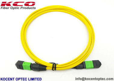 China LSZH Yellow MPO MTP Patch Cord 8 Core 12 Fiber Single Mode G657A2 Customized Length supplier